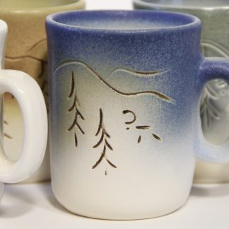 Wind of the Arctic Fjelds, coffee cup in different colors.